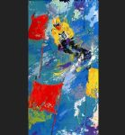 leroy neiman winter olympic skiing painting-85173