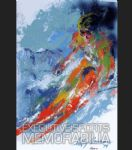 world class skier by leroy neiman painting