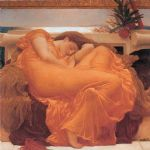 leighton flaming june by lord frederick leighton painting