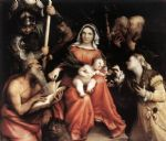 mystic marriage of st catherine by lorenzo lotto painting