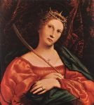 st catherine of alexandria by lorenzo lotto painting