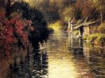 a french river landscape by louis aston knight painting
