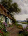 a riverside cottage by louis aston knight painting