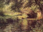 a sunny morning at beaumont le roger by louis aston knight painting