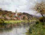 along the seine by louis aston knight painting