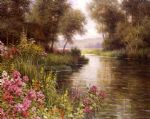 fleur au bord de la riviere by louis aston knight painting