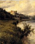 hilltop chateau by louis aston knight painting