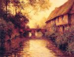 houses by the river by louis aston knight painting