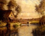 old mill in normandy by louis aston knight painting