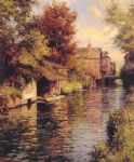 sunny afternoon on the canal by louis aston knight painting