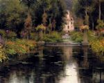 view of a chateaux by louis aston knight painting