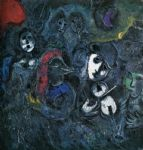 marc chagall clowns at night painting