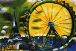 marc chagall la grande roue painting