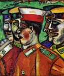 marc chagall soldiers painting