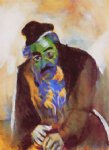 marc chagall the old jew painting