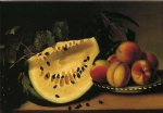 margaretta angelica peale still life with watermelon and peaches painting