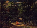 the swing children in the woods by martin johnson heade painting