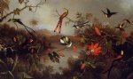 martin johnson heade tropical landscape with ten hummingbirds paintings