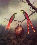 martin johnson heade two hummingbirds garding an egg painting