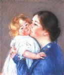 mary cassatt a kiss for baby ann no.2 painting-28821