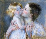 mary cassatt a kiss for baby anne no. 3 painting-28822