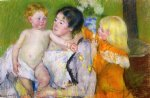 after the bath by mary cassatt painting