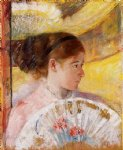 at the theater by mary cassatt painting