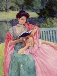 auguste reading to her daughter by mary cassatt painting