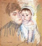 baby bill in cap and shift by mary cassatt painting