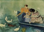 mary cassatt feeding the ducks painting