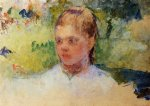 girl s head by mary cassatt painting