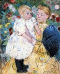 in the garden by mary cassatt oil paintings