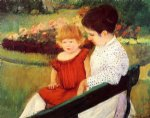 in the park by mary cassatt painting