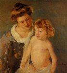 jules standing by his mother by mary cassatt painting