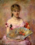 lady with a fan by mary cassatt painting