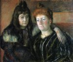 madame meerson and her daughter by mary cassatt painting