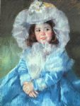 margot in blue by mary cassatt painting