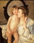 mary cassatt mother and child aka the oval mirror painting