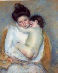 mother and child ii by mary cassatt painting