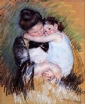 mother and child iii by mary cassatt painting