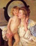 mother and child iv by mary cassatt painting
