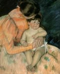 mother and child v by mary cassatt painting