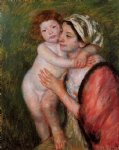 mother and child viii by mary cassatt painting