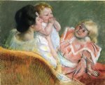 mother and children by mary cassatt painting