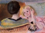 mother combing sara s hair no.2 by mary cassatt painting