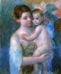 mary cassatt mother holding her baby painting