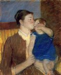 mother s goodnight kiss by mary cassatt painting
