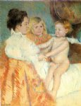 mother sara and the baby counterproof by mary cassatt painting