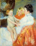 mother sara and the baby by mary cassatt painting