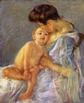 mary cassatt motherhood ii painting